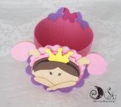 Contenitore porta caramelle, biscotti, confetti, dolci e salati, per compleanno principessa