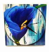Bomboniera orologio calla fiori blu comunione matrimonio battesimo compleanno nascita personalizzata