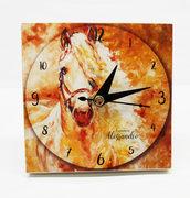 Bomboniera orologio cavallo comunione matrimonio battesimo compleanno nascita personalizzata