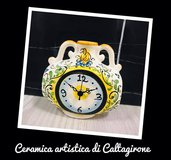 OROLOGIO DA TAVOLO IN CERAMICA DI CALTAGIRONE