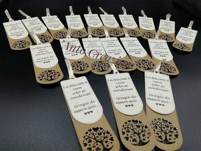 segnaposto,tags, bigliettino di ringraziamento con albero della vita