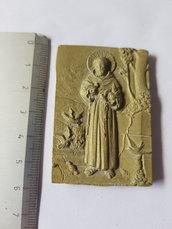 Calamita, magnete in ottone. San Francesco D'assisi