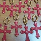 Bomboniere segnaposto Rosario per Nascita,Battesimo, Comunione,Cresima,Matrimonio