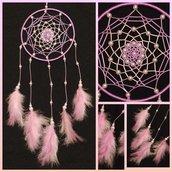 Acchiappasogni con disegno lilla e rosa