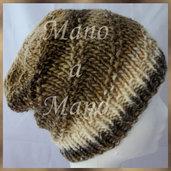 Cuffia morbida - Marrone scuro panna marrone