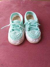 Scarpette neonato uncinetto