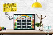Foto di classe di fine anno - Foto di fine anno scolastico - Quadro personalizzato foto classe - Collage di classe multicolor