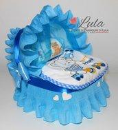Torta di Pannolini PROMO PRONTA CONSEGNA Pampers Baby Dry maschio culla carrozzina idea regalo baby shower