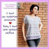 cartamodello pdf maglia camicia donna da tg S a 3xl