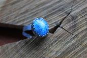 anello semisfera azzurra.