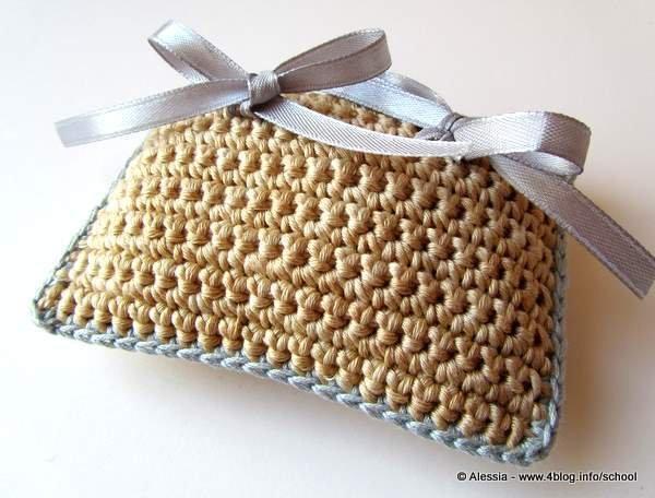 Cuscino portafedi a Crochet Uncinetto (idea matrimonio wedding)