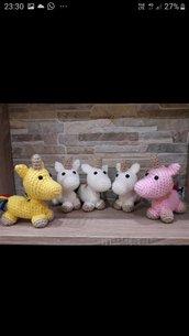 Pupazzo unicorno lana