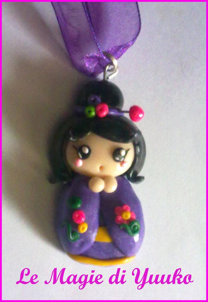 Ciondolo Kokeshi doll
