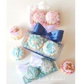 Scatola 2 biscotti decorati - nascita - battesimo - biscotti decorati