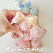 Scatola biscotti e confetto decorato - biscotti decorati - confetti decorati - bomboniere nascita - bomboniere battesimo