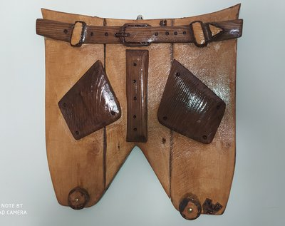 Appendino in legno da parete a forma di pantaloni