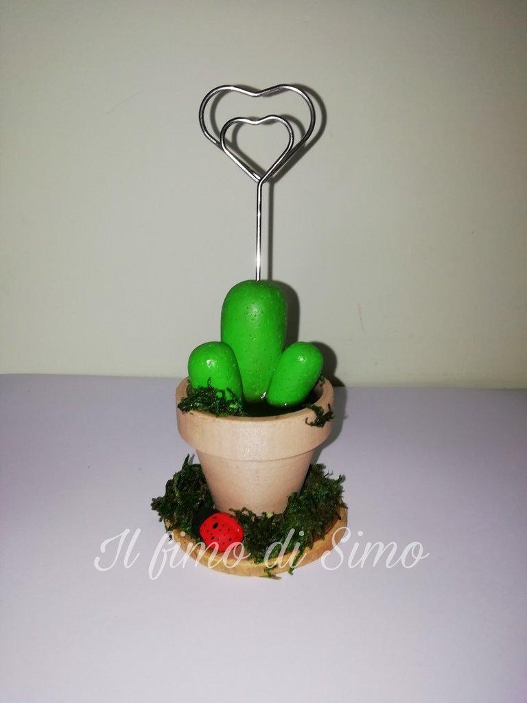 Portafoto cactus in fimo