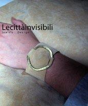 braccialetto in alcantara e ottone regolabile per qualsiasi polso