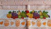 Asciughino cucina in spugna frutta