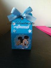 Scatolina topolino segnaposto confetti bomboniere nascita Mickey mouse