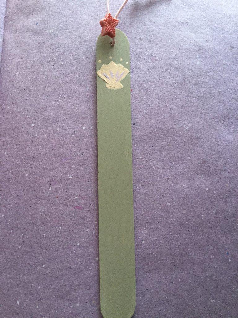Segnalibro in legno conchiglia