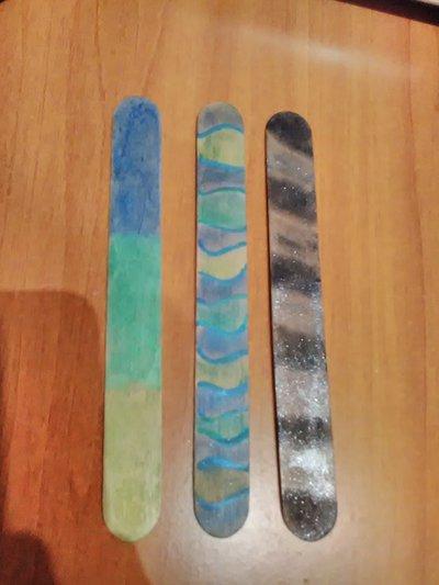 Segnalibri colorati con ombretti
