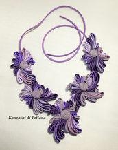 Collana kanzashi con fiori 7.3