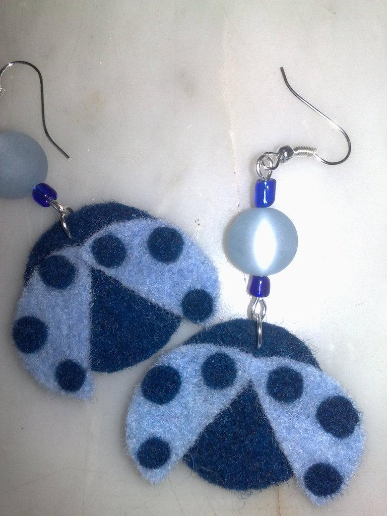 orecchini coccinelle blu