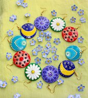 Orecchini  dipinti a mano ( handmade earrings )