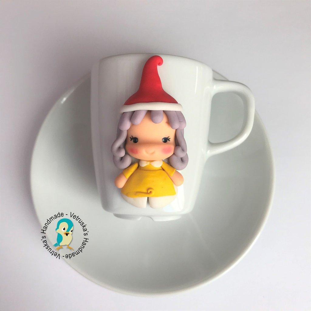 Set tazzina da caffè con piattino