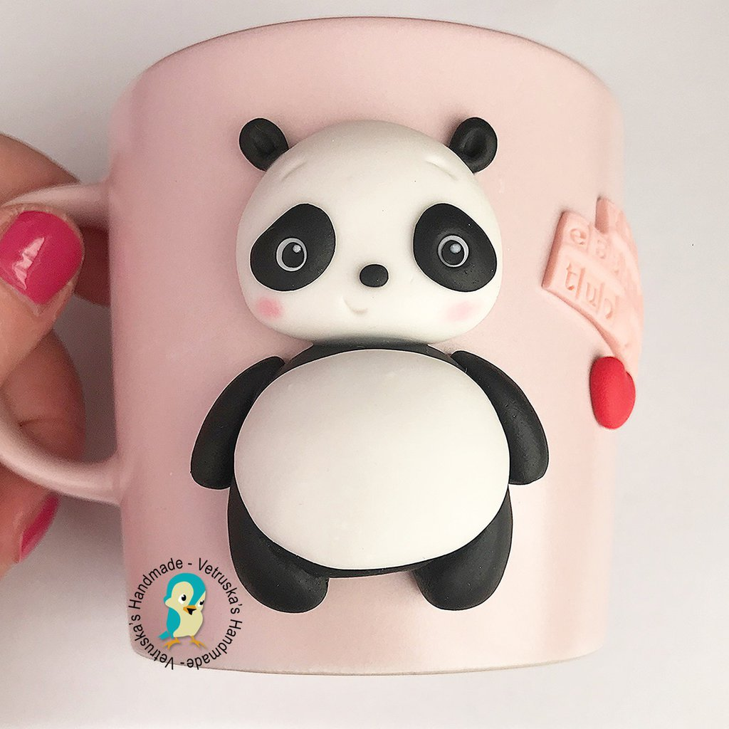 Mug in gres decorata a mano