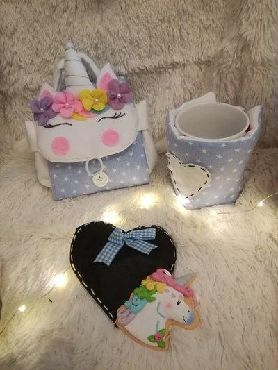 porta tazza mug unicorno realizzata a mano