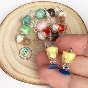Lotto 5 pezzi granita siciliana in fimo