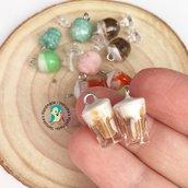 Lotto 5 pezzi miniature granita siciliana ciondoli in fimo
