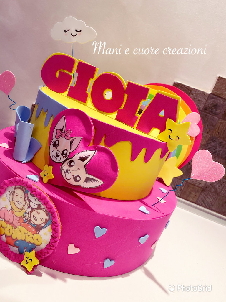 Torta ME CONTRO TE - LUi e SOFì- scenografica Compleanno Gioia