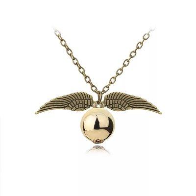 Collana boccino d'oro harry Potter color bronzo