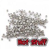 50 Schiaccini in metallo - Argento (2mm)