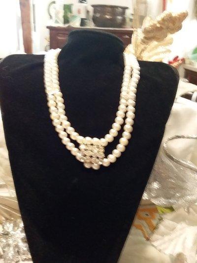 COLLANA perle due fili