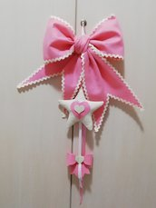 Fiocchi nascita rosa handmade misshobby doni e bomboniere nascita battesimo