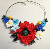 Collana kanzashi con fiori 7.6