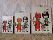 quadretto gatti 13x18 cm