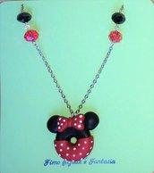 Collane lunghe Mickey Mouse e Minnie in fimo