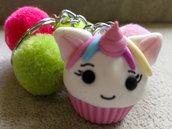 Portachiavi cupcake unicorno