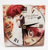 Bomboniera orologio sposi matrimonio parigi anniversario personalizzata