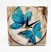 Bomboniera orologio farfalle farfalla comunione matrimonio battesimo compleanno nascita personalizzata