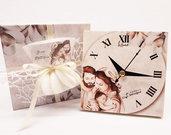 Bomboniera orologio sacra famiglia comunione matrimonio battesimo compleanno nascita personalizzata