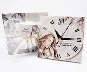 Bomboniera orologio sacra famiglia madonna maternità comunione matrimonio battesimo compleanno nascita personalizzata