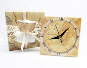 Bomboniera orologio mondo mappamondo comunione cresima battesimo matrimonio laurea personalizzata