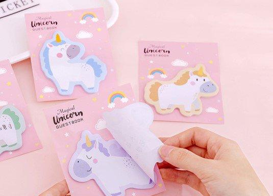 Unicorno Foglio adesivo sticker appunti ufficio scuola