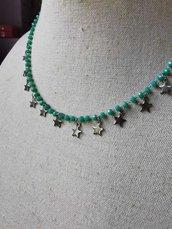 Girocollo Tiffany con stelline acciaio